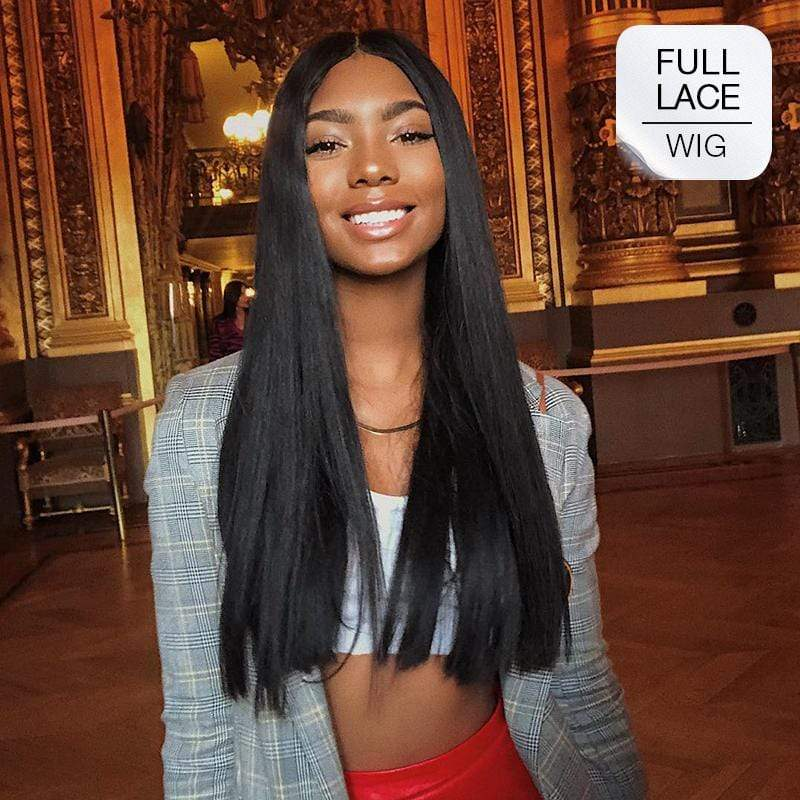 "Brooklyn Hair Full Lace Wig 100% Unprocessed Indian Human Hair Brazilian Straight Extra long 24-26"" - Bundle Hair - Brooklyn Hair"