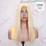 "Brooklyn Hair T Part Wig / Platinum Blonde Medium Length 14-18"" - Bundle Hair - Brooklyn Hair"