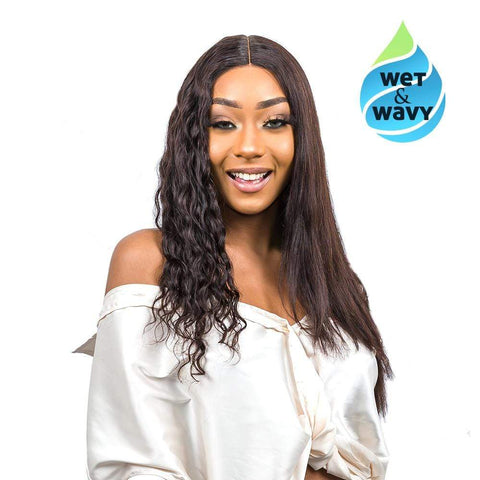 "Brooklyn Hair Wet & Wavy T Part Wig / Brazilian Loose Wave 20-22"" - Bundle Hair - Brooklyn Hair"