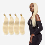 Brooklyn Hair 11A Raw Virgin Platinum Blonde #613 Straight 4 Bundle Deals - Bundle Hair - Brooklyn Hair