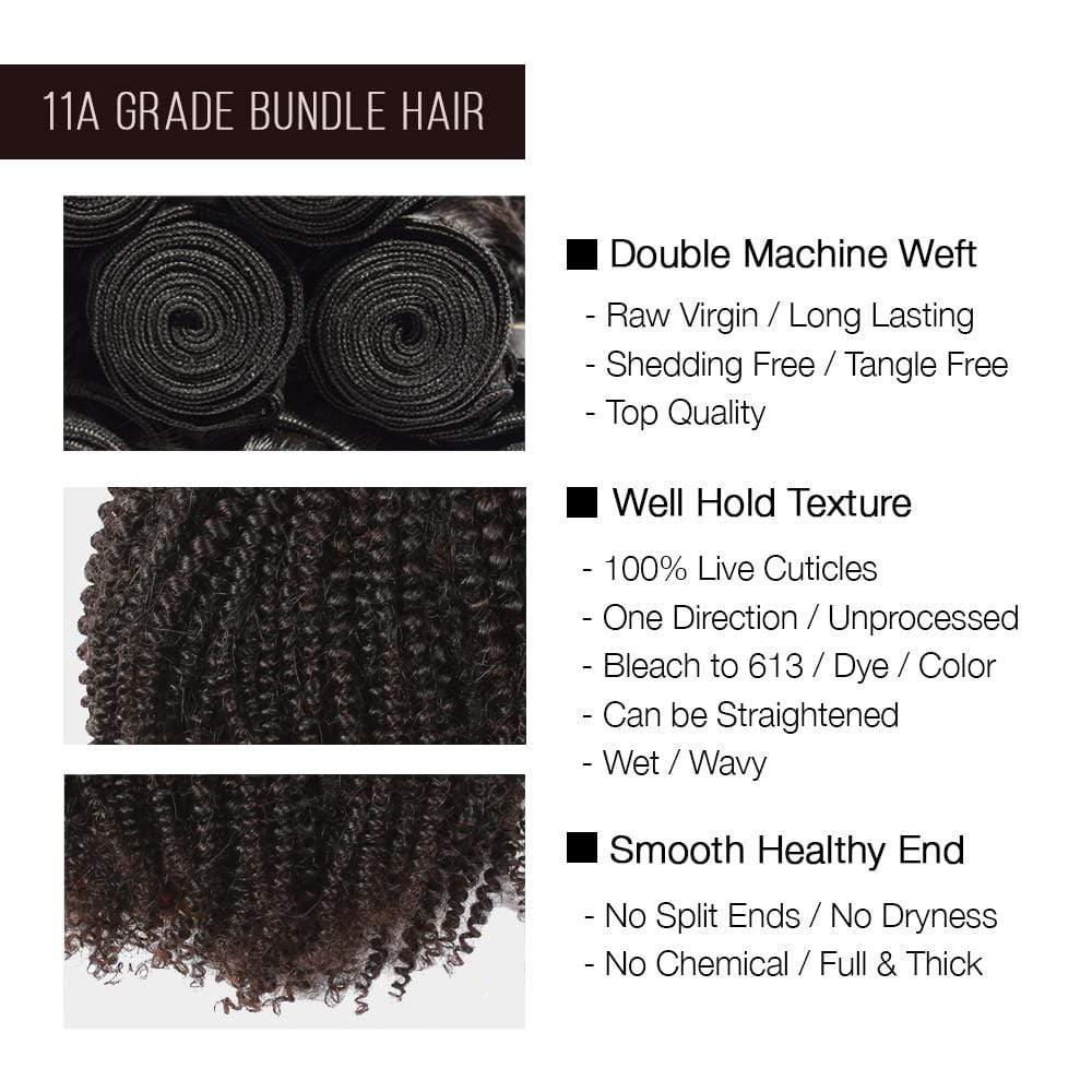 Brooklyn Hair 11A Raw Virgin Hair Afro Kinky 2 Bundle Deals - Bundle Hair - Brooklyn Hair