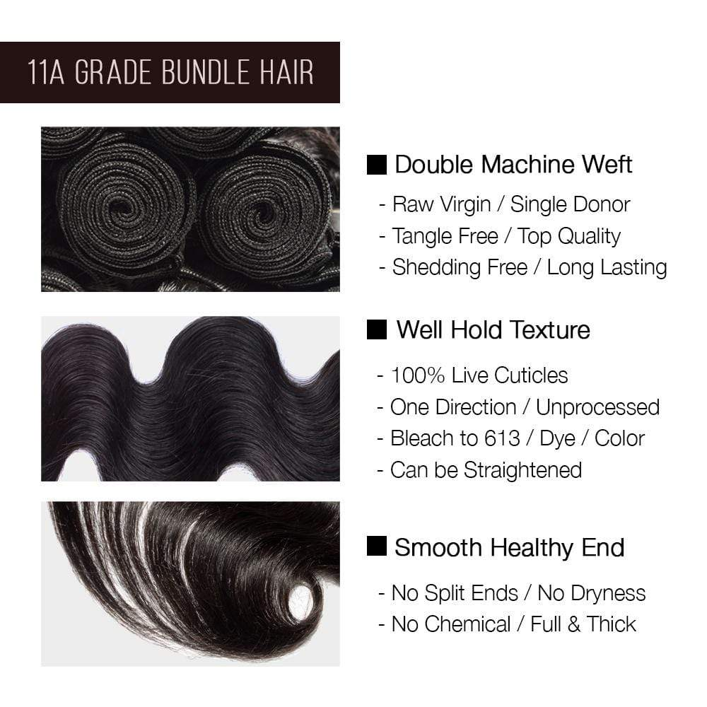 Brooklyn Hair 11A Raw Virgin Body Wave 3 Bundle Deals - Bundle Hair - Brooklyn Hair