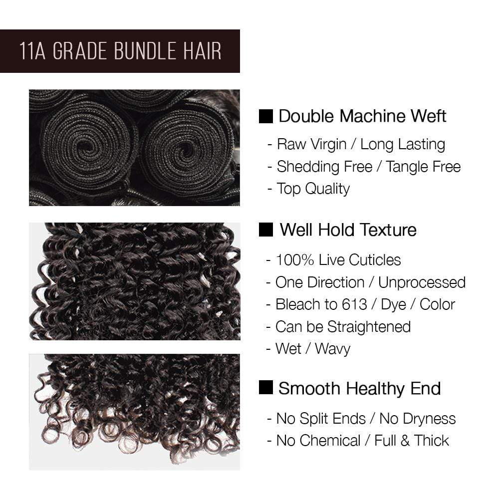 Brooklyn Hair 11A Hair Bohemian Jerry Curl 2 Bundle Deals - Bundle Hair - Brooklyn Hair