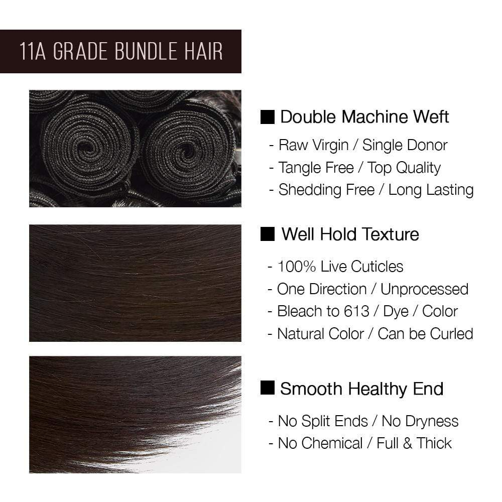 Brooklyn Hair 11A Raw Virgin Straight 3 Bundle Deals - Bundle Hair - Brooklyn Hair