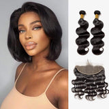 Brooklyn Hair 7A Body Wave / 2 Bundles with 13x4 Lace Frontal Look - Brooklyn Hair
