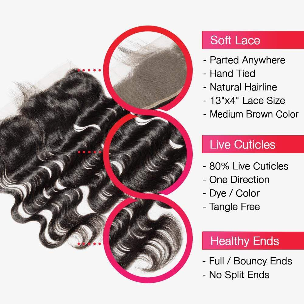 Brooklyn Hair 7A Body Wave / 2 Bundle with 13x4 Lace Frontal Look - Bundle Hair - Brooklyn Hair