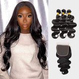 Brooklyn Hair 7A Body Wave / 3 Bundles with 6x6 Lace Closure Look - Bundle Hair - Brooklyn Hair