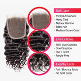 Brooklyn Hair 7A Deep Wave / 3 Bundles with 4x4 Brazilian Lace Closure Look - Bundle Hair - Brooklyn Hair