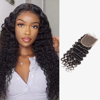Brooklyn Hair 7A Grade 100% Virgin Brazilian Human Hair Deep Wave 4x4 Lace Closure - Bundle Hair - Brooklyn Hair