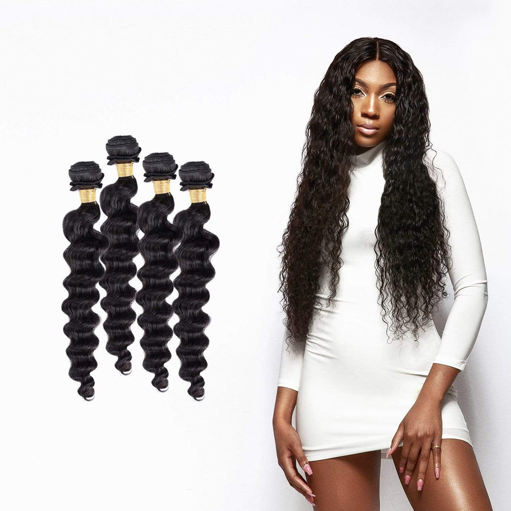 Brooklyn Hair 9A Peruvian Loose Deep Wave 4 Bundle Deals - Bundle Hair - Brooklyn Hair