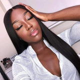 Brooklyn Hair 9A Straight / 3 Bundles with 4x4 Lace Closure Look - Brooklyn Hair