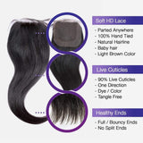 Brooklyn Hair 9A Straight / 2 Bundles with 4x4 Lace Closure Look - Brooklyn Hair
