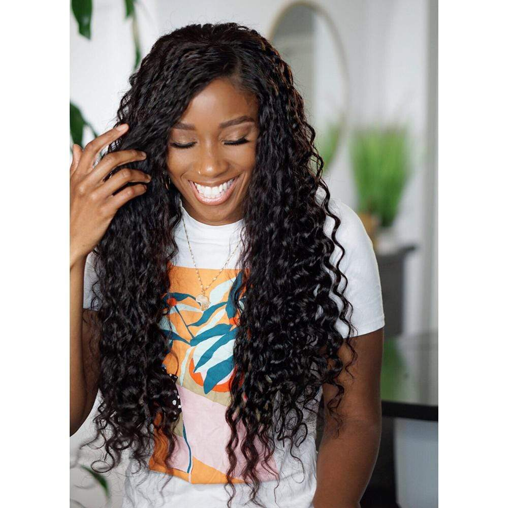 "Brooklyn Hair Full Lace Wig / Brazilian Loose Deep Wave Extra Long Style 26-28"" by Makeba - Brooklyn Hair"
