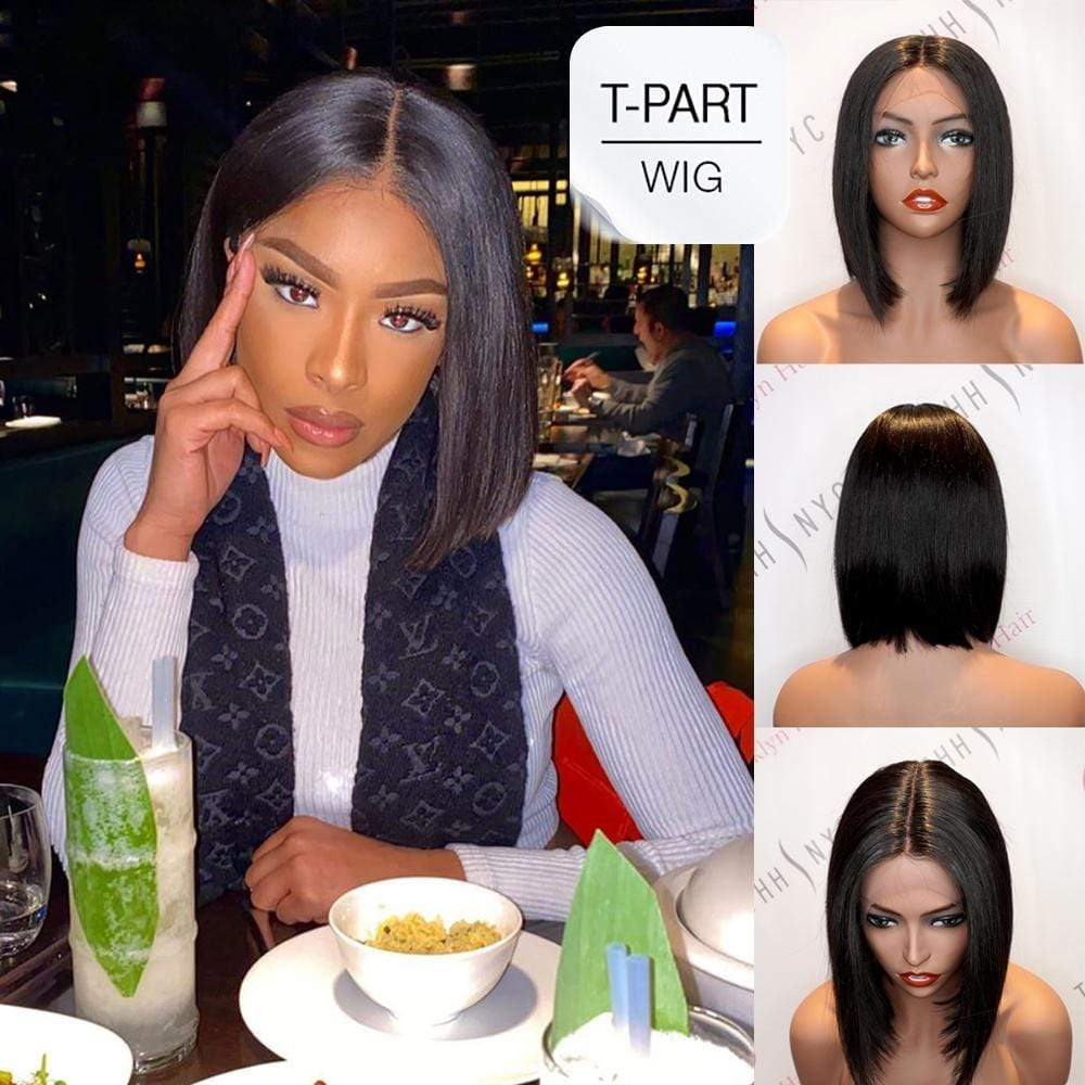 "Brooklyn Hair T Part Wig / Bob Style 10-14"" - Bundle Hair - Brooklyn Hair"