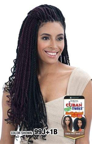 "Freetress Equal Synthetic Hair Braids Double Strand Style (Havana Twist) Cuban Twist Braid 24"" - Bundle Hair - Brooklyn Hair"