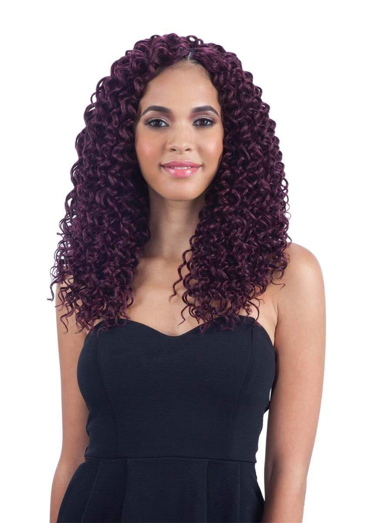 "FreeTress Synthetic Hair Crochet Braids Beach Curl 12"" - Brooklyn Hair"