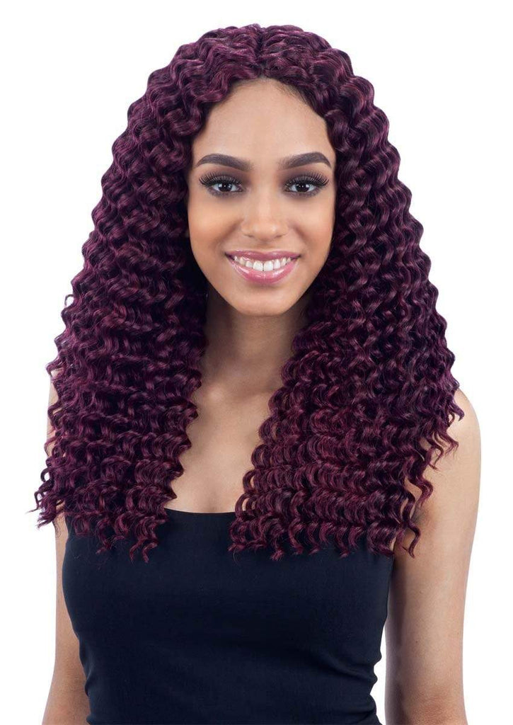 "FreeTress Synthetic Hair Crochet Braids Deep Twist 14"" - Bundle Hair - Brooklyn Hair"