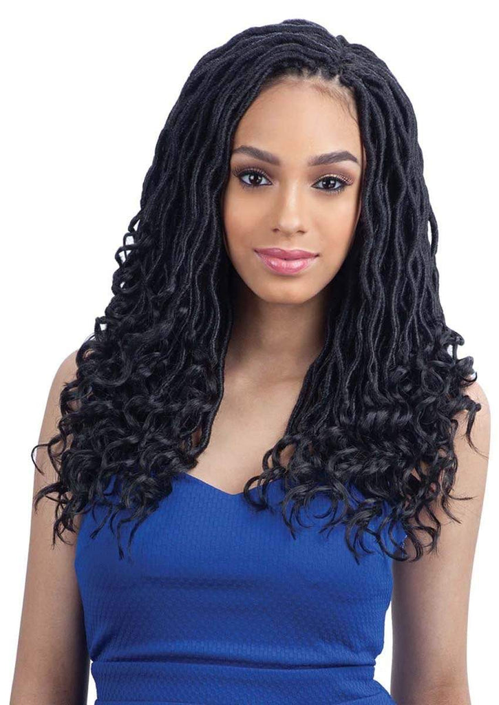 "FreeTress Synthetic Hair Crochet Braids Gorgeous Loc 14"" (Goddess Loc) - Bundle Hair - Brooklyn Hair"