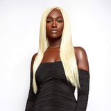 "Full Lace Wig / Platinum Blonde (#613) Straight 20-24"" - Bundle Hair - Brooklyn Hair"