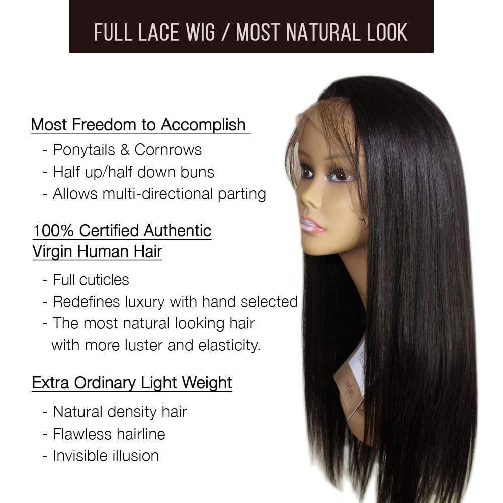 Full Lace Wig / Bob Straight - Bundle Hair - Brooklyn Hair