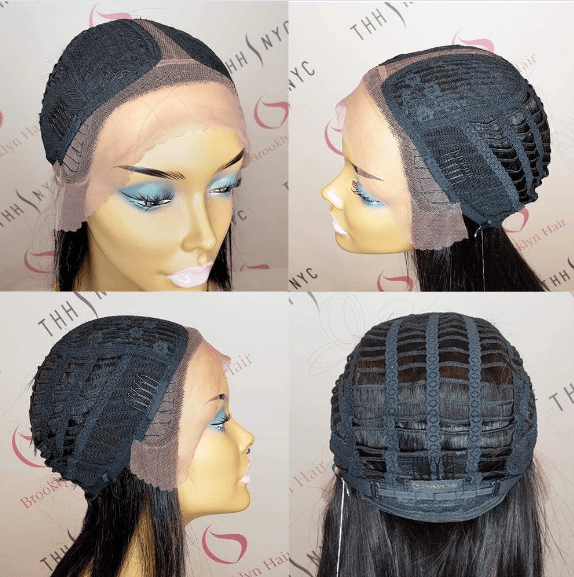Brooklyn Hair 100% Virgin Brazilian Human Hair Lace Part Wig - Blunt Cut Bob Medium Shoulder Length Wig Style with Deep Invisible Lace Center Part - Bundle Hair - Brooklyn Hair