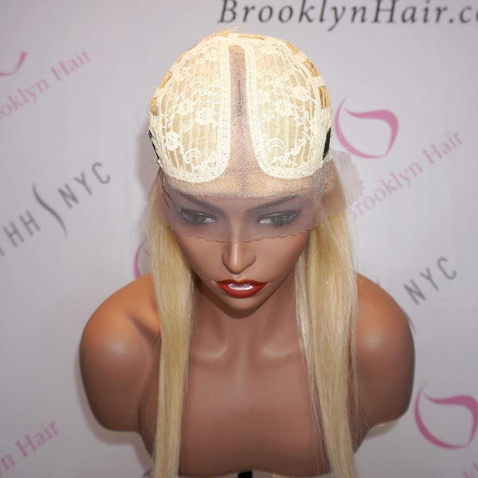 Lace T Part Wig / Platinum Blonde Straight (#613) - Bundle Hair - Brooklyn Hair
