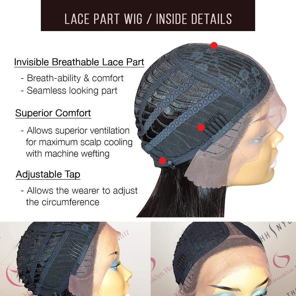 Lace T Part Wig / Straight - Brooklyn Hair
