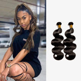 Brooklyn Hair 9A Body Wave / 2 Bundle Ponytail Look - Bundle Hair - Brooklyn Hair