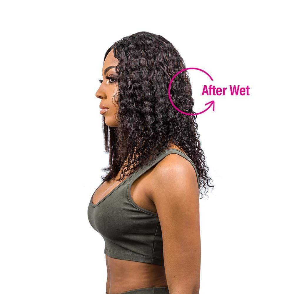 "Lace T Part Wig / Wet & Wavy - Bohemian Jerry Curl 14-18"" - Bundle Hair - Brooklyn Hair"