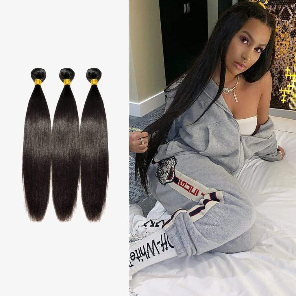 Brooklyn Hair Extension 9A Indian Bundle Hair Remy Extra Long Straight Style Weave / 3 Bundles Deal - Bundle Hair - Brooklyn Hair