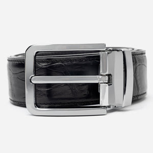 Black Croco Leather Belt