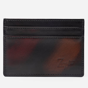 Red & Brown Card Holder
