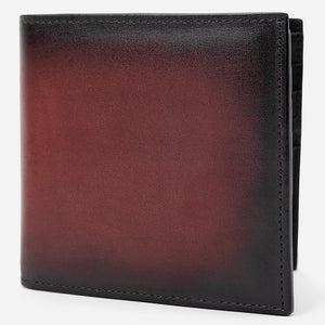Maroon Leather Bi-Fold Wallet