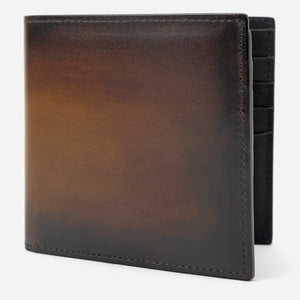 Brown Leather Bi-Fold Wallet