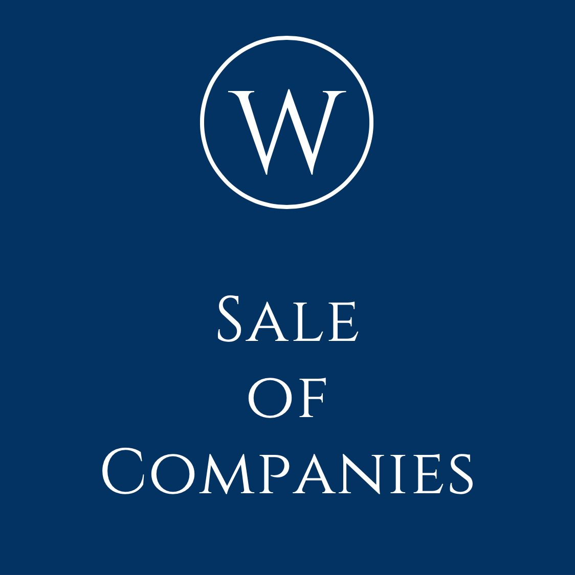 Advice on the sale of companies