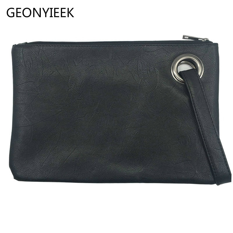 Fashion solid women's clutch bag leather women envelope bag clutch evening bag female Clutches Handbag free shipping