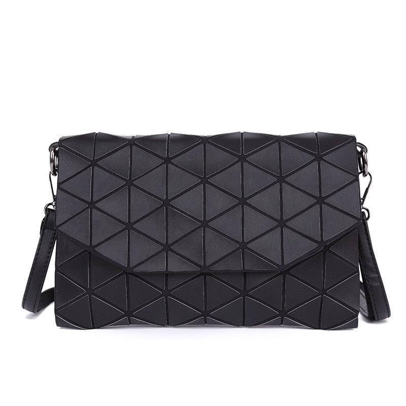 2018 New Matte Designer Women Evening Bags Shoulder Bag Girls Flap Handbag Fashion Geometric Plaid Casual Clutch Messenger Bags