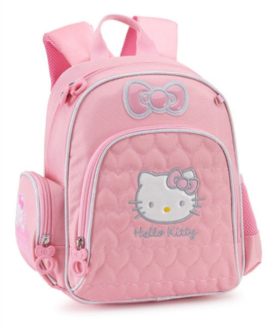 Cute Cartoon Pink Hello Kitty Bag Kindergarten Preschool Backpacks Kids Bag Schoolbag Children School Bags Baby Girls