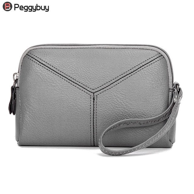 2018 Elegent PU Wallet Female Vintage Women Day Clutches Casual Ladies Portfolio Money Cash Bag Ladies Purse Evening