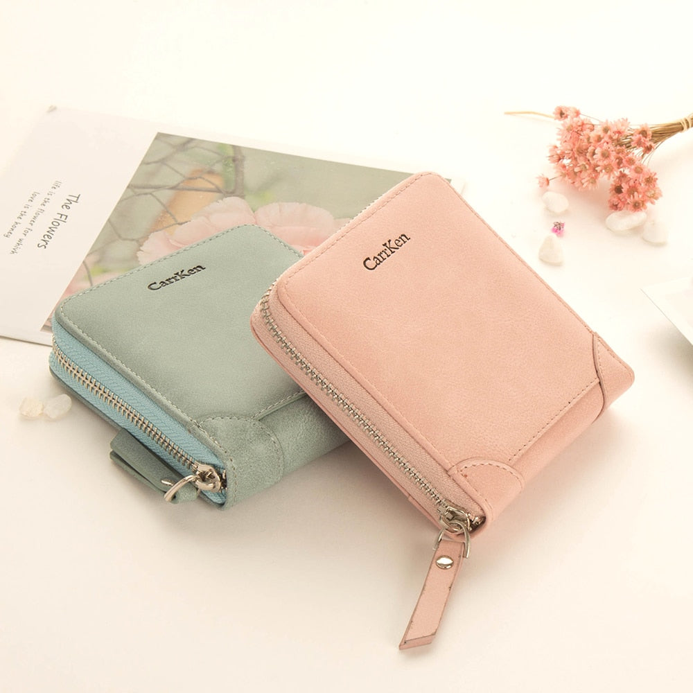 Purple Wallets for Women Purse Female Women Fashion Ladies Cute Short Wallet  Pu Leather Short Rfid Wallet Christmas Gift