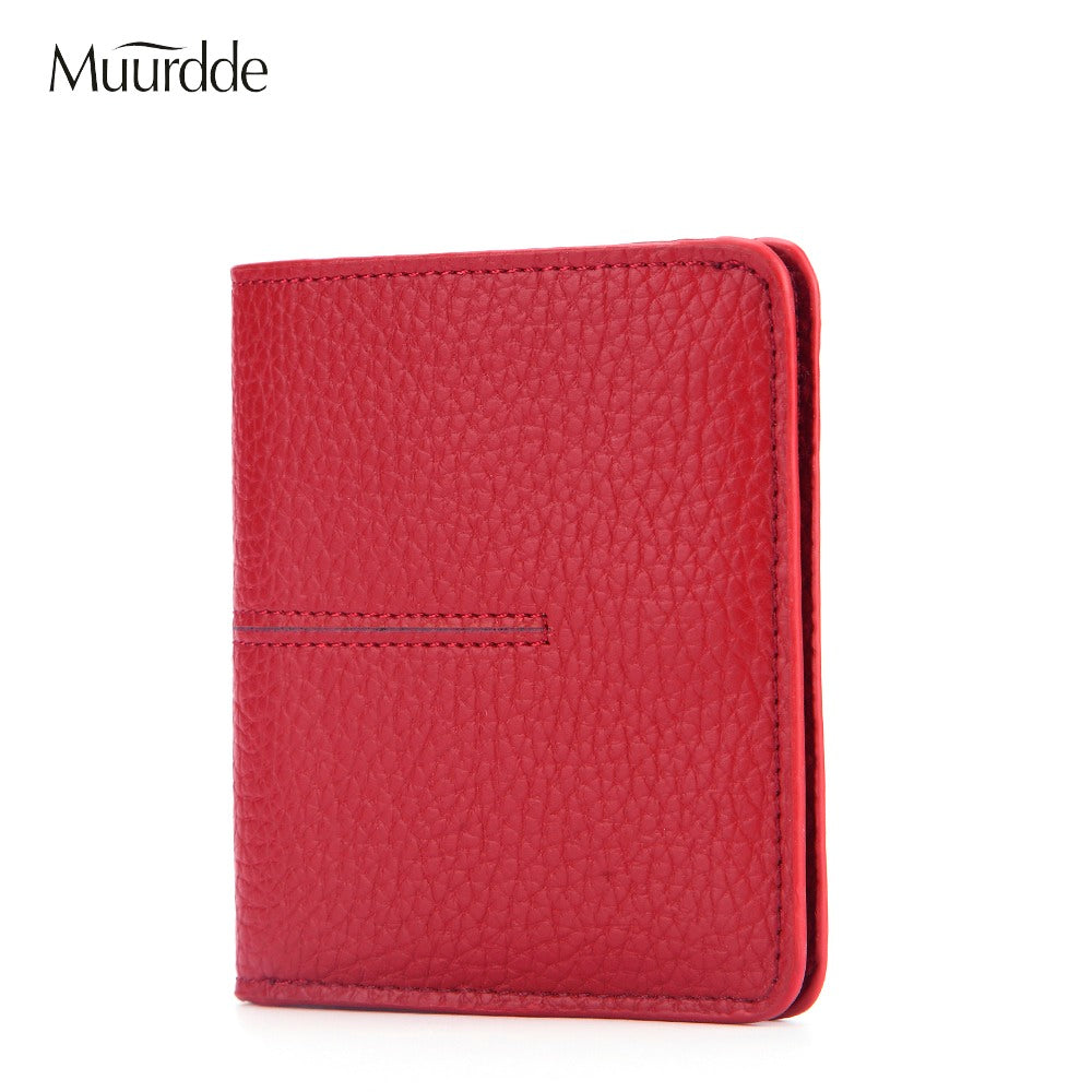 2018 New High Quality Genuine Leather Hasp Mini Purse Women Soft Ultra-thin Wallets Lady's Short Purse Small Slim Style Fashion