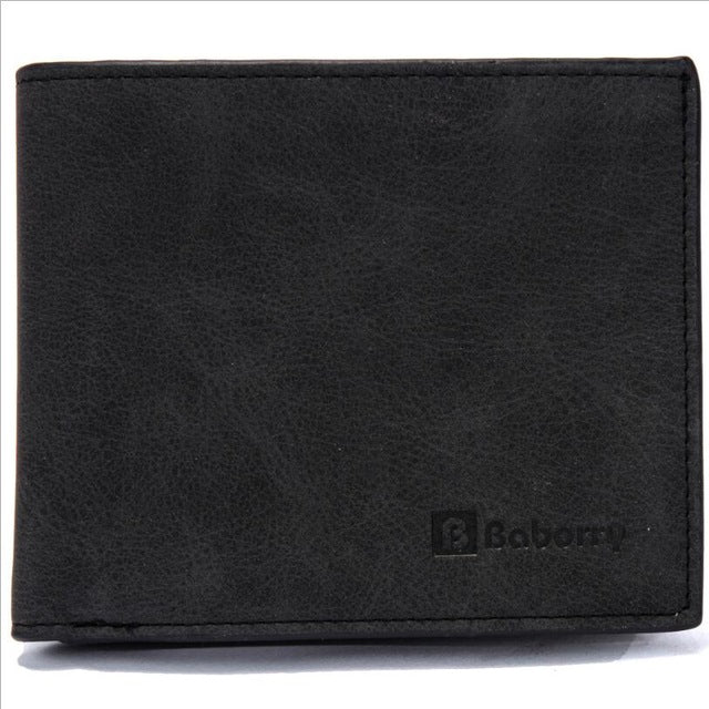 Baborry Brand Wallet Hot Promotion Men Vintage Wallet Male Slim PU Bifold Wallets Thin Money Dollar Card Holder Purses for Men