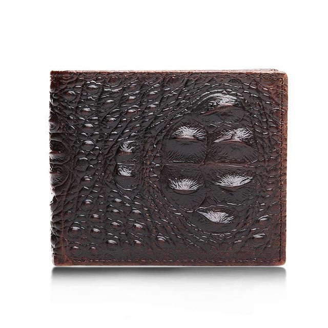Alligator Male Wallets Vintage Men Wallet Genuine Leather Short Wallets Male Multifunctional Cowhide Purse Coin Pocket