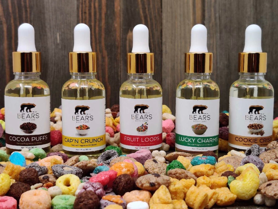 cereal fragrance oil, fruit loops cereal fragrance oil, captain crunch fragrance oil, cocoa puffs frangrance oil, lucky charms fragrance oil,