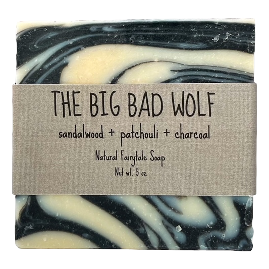 "Sandalwood & Charcoal ""The Big Bad Wolf"" Soap"