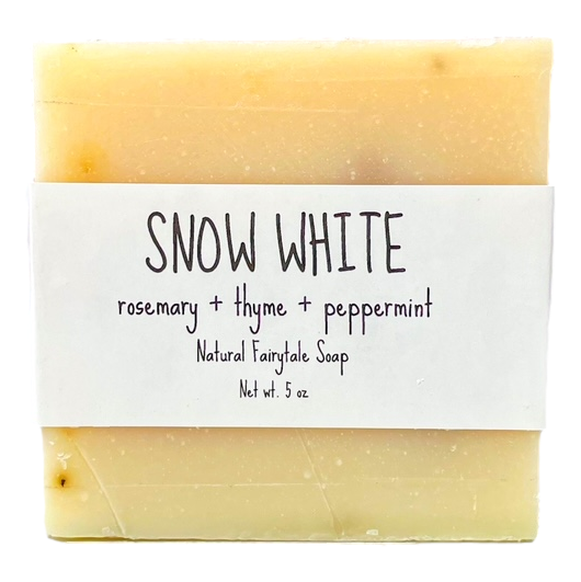 "Rosemary & Mint ""Snow White"" Soap"