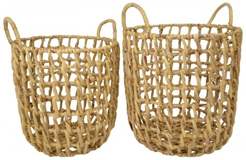 Basket Open Weave Hyacinth
