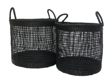 Basket Aharnm Seagrass - BLACK
