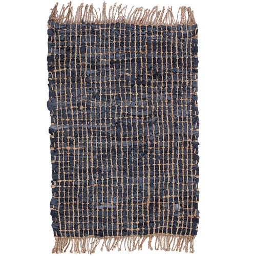 Heavy Duty Leather & Jute Rug Door Mat