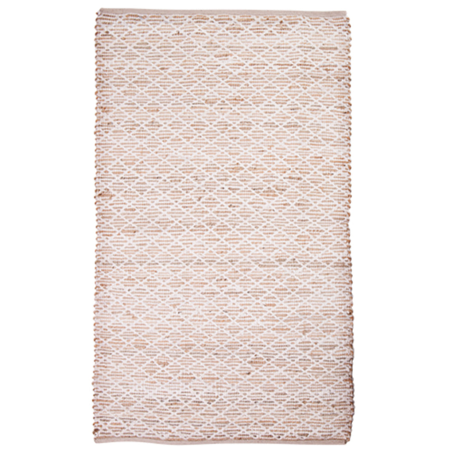 Jute & Cotton Diamond Door Mat